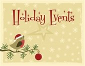 Holiday Events - bird on branch w/ornament