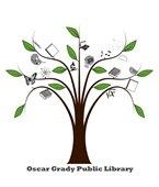 Oscar Grady Library - Tree logo